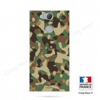 Coque Xperia XA2 souple motif Camouflage militaire - Crazy Kase