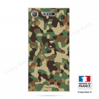 Coque Xperia XZ1 souple motif Camouflage militaire - Crazy Kase