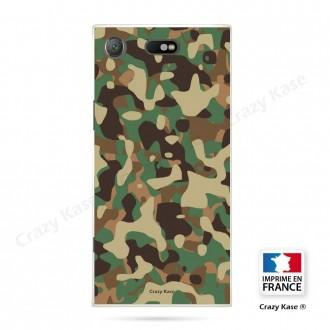 Coque Xperia XZ1 Compact souple motif Camouflage militaire - Crazy Kase