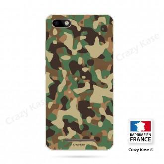 Coque Wiko Lenny 3 souple motif Camouflage militaire - Crazy Kase