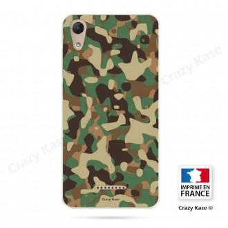 Coque Wiko Lenny 4 souple motif Camouflage militaire - Crazy Kase