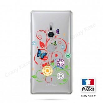 Coque Sony Xperia XZ2 souple motif Papillons et Cercles - Crazy Kase
