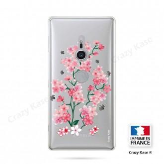 Coque Sony Xperia XZ2 souple motif Fleurs de Sakura - Crazy Kase