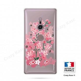Coque Sony Xperia XZ2 souple motif Fleurs de Cerisier - Crazy Kase