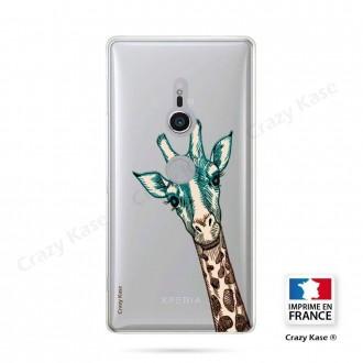 Coque Sony Xperia XZ2 souple motif Tête de Girafe - Crazy Kase