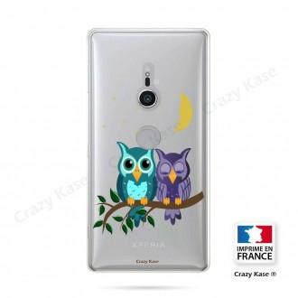 Coque Sony Xperia XZ2 souple motif chouettes au clair de lune - Crazy Kase