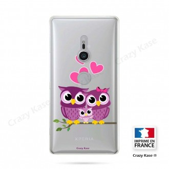 Coque Sony Xperia XZ2 souple motif Famille Chouette - Crazy Kase