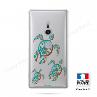 Coque Sony Xperia XZ2 souple motif Famille Tortue - Crazy Kase