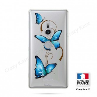 Coque Sony Xperia XZ2 souple motif Papillon sur Arabesque - Crazy Kase