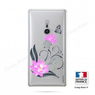 Coque Sony Xperia XZ2 souple motif Fleur de lotus et papillon- Crazy Kase