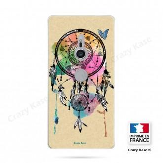 Coque Sony Xperia XZ2 souple motif Attrape rêve et papillon - Crazy Kase