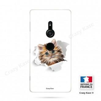 Coque Sony Xperia XZ2 souple motif Chat trop mignon - Crazy Kase