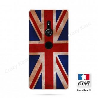 Coque Sony Xperia XZ2 souple motif Drapeau UK vintage - Crazy Kase