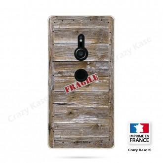 Coque Sony Xperia XZ2 souple effet Caisse en bois - Crazy Kase