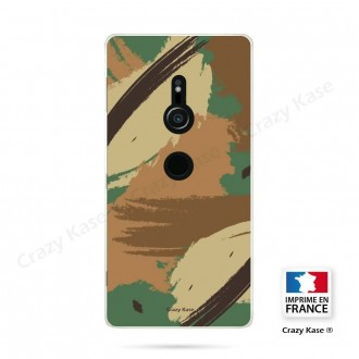 Coque Sony Xperia XZ2 souple motif Camouflage - Crazy Kase
