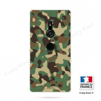 Coque Sony Xperia XZ2 souple motif Camouflage militaire - Crazy Kase