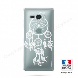 Coque Sony Xperia XZ2 Compact souple motif Attrape Rêves Blanc - Crazy Kase