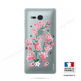 Coque Sony Xperia XZ2 Compact souple motif Fleurs de Sakura - Crazy Kase