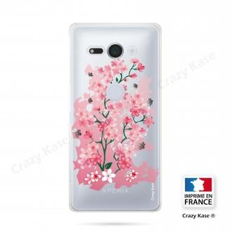 Coque Sony Xperia XZ2 Compact souple motif Fleurs de Cerisier - Crazy Kase
