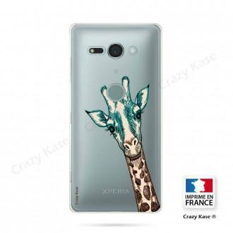 Coque Sony Xperia XZ2 Compact souple motif Tête de Girafe - Crazy Kase