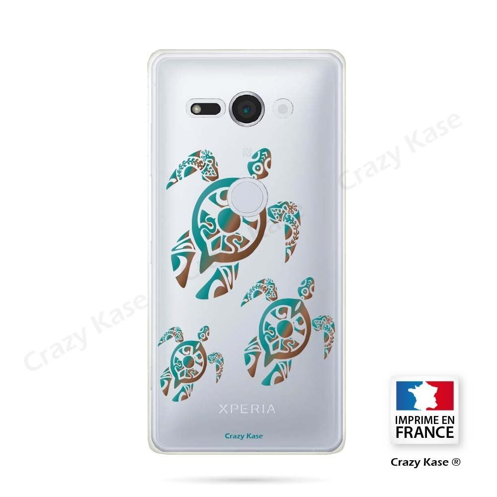 Coque Sony Xperia XZ2 Compact souple motif Famille Tortue - Crazy Kase