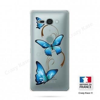 Coque Sony Xperia XZ2 Compact souple motif Papillon sur Arabesque - Crazy Kase