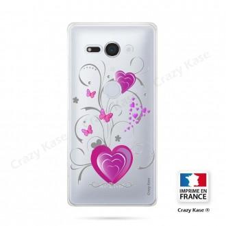 Coque Sony Xperia XZ2 Compact souple motif Cœur et papillon - Crazy Kase