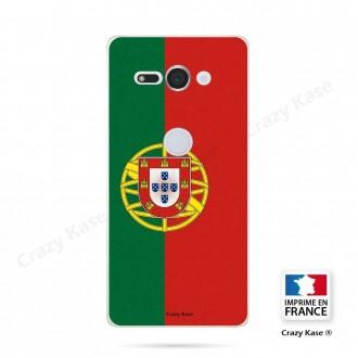 Coque Sony Xperia XZ2 Compact souple motif Drapeau Portugais - Crazy Kase