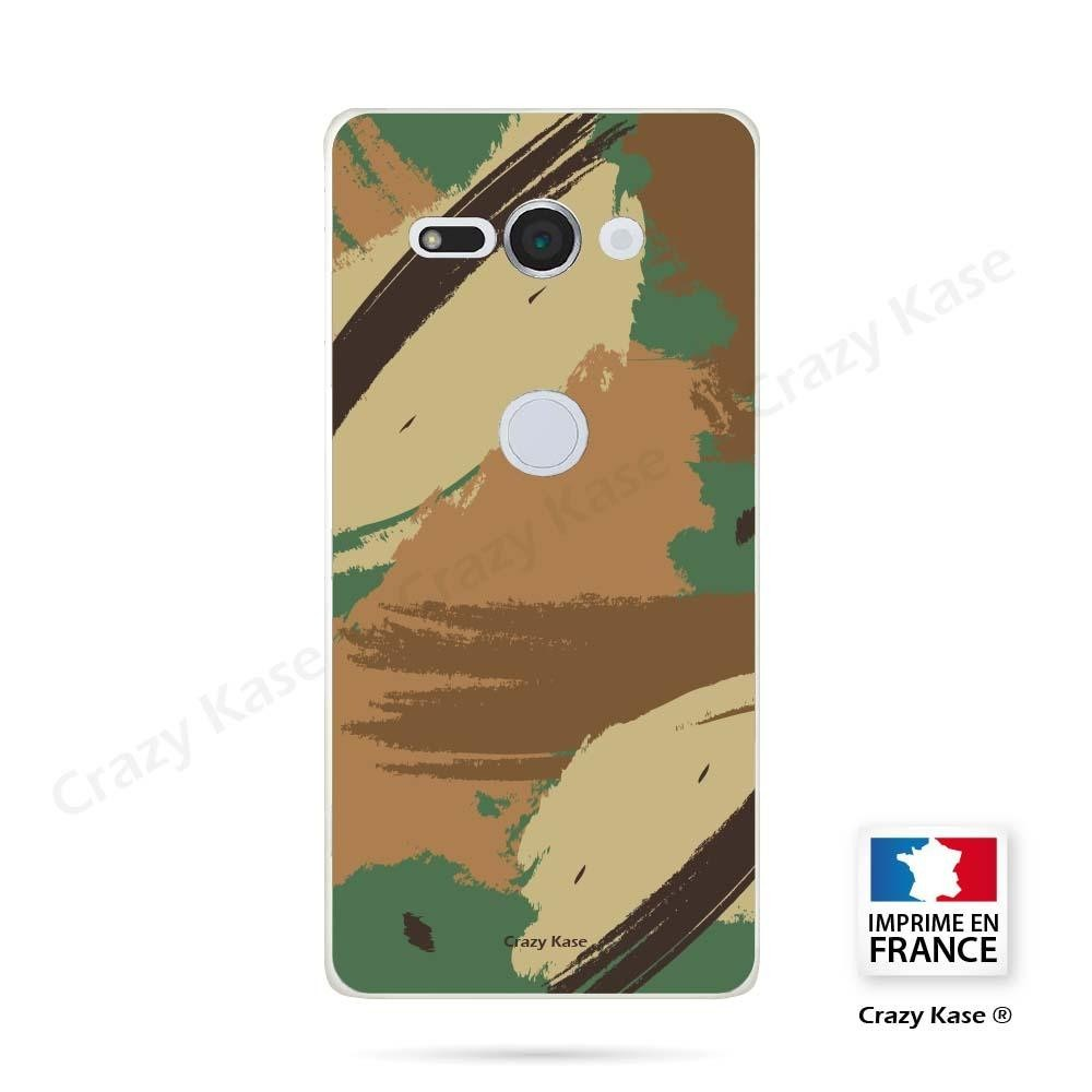 Coque Sony Xperia XZ2 Compact souple motif Camouflage - Crazy Kase