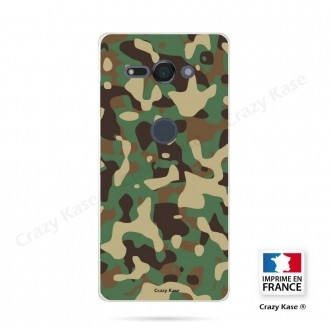 Coque Sony Xperia XZ2 Compact souple motif Camouflage militaire - Crazy Kase