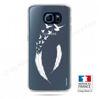 Coque Galaxy S6 souples motif Plume et envol d'oiseaux - Crazy Kase