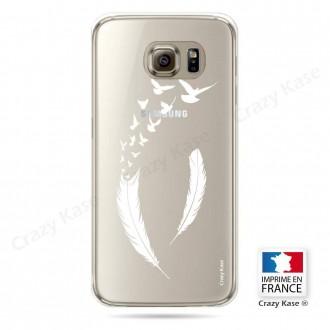 Coque Galaxy S6 Edge souple motif Plume et envol d'oiseaux - Crazy Kase