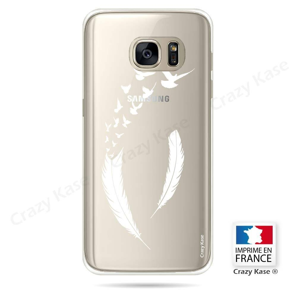 coque galaxy s7 plume