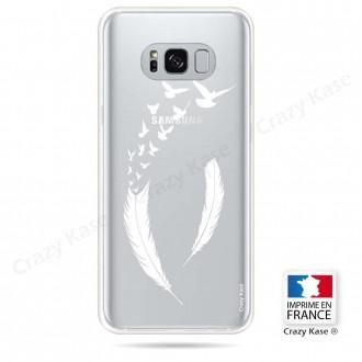 Coque Galaxy S8 Plus souple motif Plume et envol d'oiseaux - Crazy Kase