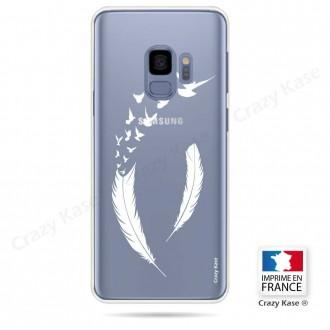 Coque Galaxy S9 souple motif Plume et envol d'oiseaux - Crazy Kase