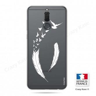 Coque Huawei Mate 10 Lite souple motif Plume et envol d'oiseaux - Crazy Kase