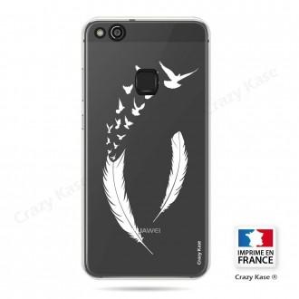 Coque Huawei P10 Lite souple motif Plume et envol d'oiseaux - Crazy Kase