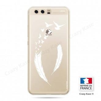 Coque Huawei P10 souple motif Plume et envol d'oiseaux - Crazy Kase