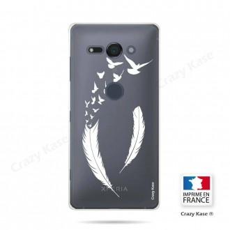 Coque Sony Xperia XZ2 Compact souple motif Plume et envol d'oiseaux - Crazy Kase