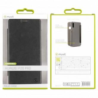 Etui Huawei P20 Pro Folio Noir - Muvit