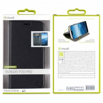 Etui Huawei P20 Pro Porte cartes Noir - Muvit