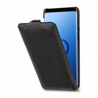 Etui Galaxy S9 UltraSlim Noir en cuir véritable - Stilgut