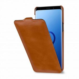 Etui Galaxy S9 UltraSlim Cogac en cuir véritable - Stilgut