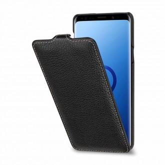 Etui Galaxy S9+ UltraSlim Noir en cuir véritable - Stilgut
