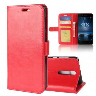 Etui Nokia 8 Portefeuille Rouge - Crazy Kase