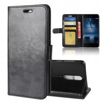 Etui Nokia 8 Portefeuille Noir - Crazy Kase