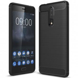 Coque Nokia 8 noir effet carbone - Crazy Kase