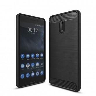 Coque Nokia 6 noir effet carbone - Crazy Kase