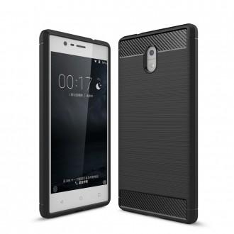 Coque Nokia 3 noir effet carbone - Crazy Kase