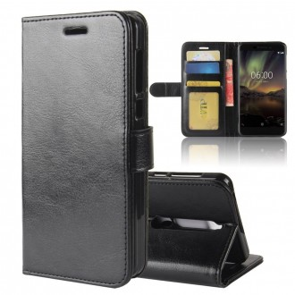 Etui Nokia 6.1 Portefeuille Noir - Crazy Kase